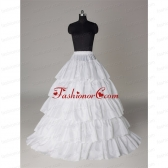 Hot Sell Organza A Line Floor-length Petticoat in White ACCPTI010FOR