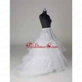 Hot Selling Organza A Line Sweep Train White Petticoat ACCPTI016FOR