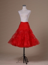Hot Selling Red Organza Mini Length Petticoat ACP040FOR