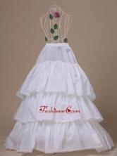 Hot Selling Taffeta Brush Train Wedding Petticoat ACP016FOR