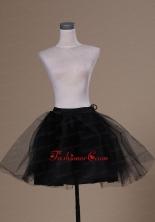 Lovely Mini Length Black Organza Petticoat ACP030FOR