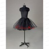 Modern Organza Mini Length Petticoat in Black ACCPTI017FOR
