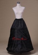 Modest Organza Black Floor Length Wedding Petticoat ACP024FOR