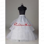 Popular Organza A Line 3 Layers White Petticoat ACCPTI015FOR