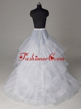 Three Layers A line Brush Train Wedding Petticoat ACCPET12FOR