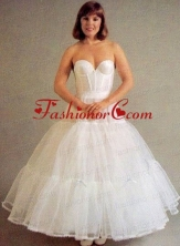Trendy Organza Ball Gown Ankle Length White Petticoat ACCPTI019FOR
