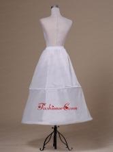 White Ankle Length Taffeta Petticoat ACP039FOR