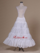 White Organza Hot Selling Floor Length Petticoat ACP034FOR