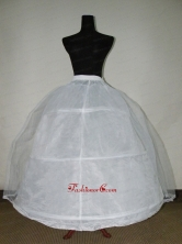 White Tulle And Organza Floor Length Petticoat For Ball Gowns ACP046FOR