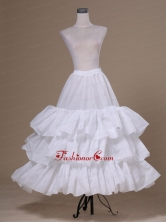 White Tulle Ball Gown Floor Length Petticoat ACP037FOR