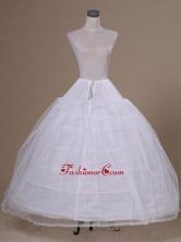 White Tulle Floor Length Petticoat ACP035FOR