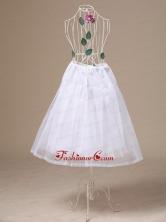 White Tulle Tea Length Unique Wedding Petticoat ACP011FOR