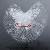 2014 Cheap Tulle Beading Wedding Net Yarn Briadl Hat ACCHP040FOR