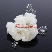 2014 Cute Pearl Net Yarn Chiffon Hair Flowers ACCHP016FOR