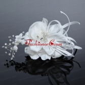 2014 Fashionable Tulle White Imitation Pearls Fascinators ACCHP055FOR