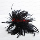 2014 Simple Feather Black Feather Flower Hairpin ACCHP083FOR