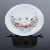 2014 Unique White Hat Hair Ornament with Imitation Pearls  ACCHP041FOR