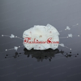 2014 Yellow Tulle Imitation Pearls Hair Flower ACCHP049FOR