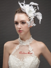 Artistic Feather Fascinators With Crystal Adorned Flower  UNION29T024FOR