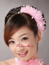 Baby Pink Multilayer Imitation Pearls Headpieces For Party TH040FOR