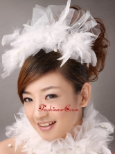 Beautiful Feather Flower Imitation Pearls Fascinators TH081FOR