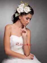 Beautiful Headpieces Taffeta Hand Made Flowers  JDZH017FOR