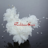 Beautiful Red Feather Pearl Feather Fascinators for Outdoor ACCHP033FOR