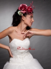 Beautiful Red Hand Made Flowers Headpieces JDZH028FOR