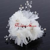 Beautiful Rhinestone Pearl Chiffon Hair Flowers ACCHP014FOR