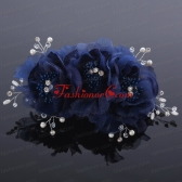 Beautiful Rhinestone Pearl Chiffon White Hair Flowers ACCHP015FOR