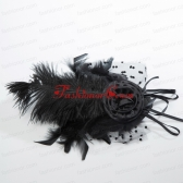 Beautiful Tulle Black and Purple Feather Hair Ornament ACCHP085FOR