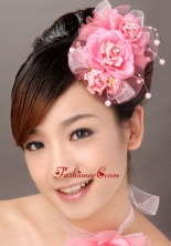 Beautiful Tulle Hand Made Flowers Beading Hairpins Birdcage Veils TH023FOR