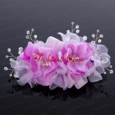 Beautiful Tulle Lilac 2014 Hair Flower with Rhinestone ACCHP023FOR