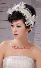 Beautiful Tulle Silk Ribbon Special Occasion Fascinators XTH009FOR