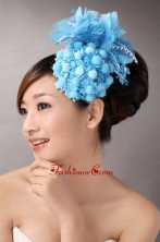 Blue Feather Beading Flower For Party New Arrival  TH052FOR