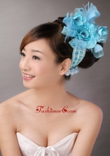Blue Feather Chiffon Net Flower For Party  TH053FOR