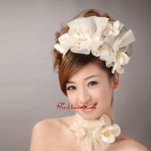 Champagne Organza Special Occasion and Outdoor Fascinators Hairband TH084FOR