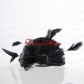 Cheap Black Feather Organza Wedding Hair Ornament  ACCHP080FOR