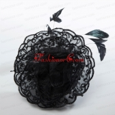 Cheap Feather Black Lace Fascinators for Wedding ACCHP076FOR