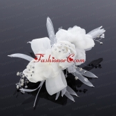 Cheap Tulle Rhinestone Hair Flower for Wedding ACCHP019FOR