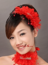 Classical Organza Beaded Wedding Fascinators TH002FOR