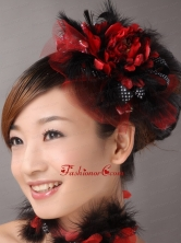 Custom Made Multi color Imitation Feather With Tulle In 2013 New York TH060FOR