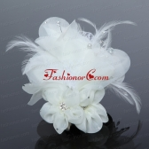 Elegant Apple Green Feather and Tulle Imitation Pearls Fascinators ACCHP048FOR