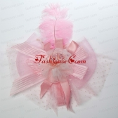 Elegant Beading Lace and Feather Fascinators For 2014 ACCHP105FOR