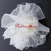 Elegant Feather Red Imitation Pearls Fascinators for Wedding ACCHP018FOR