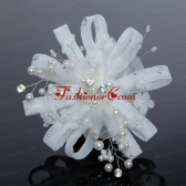 Elegant Feather Tulle Fascinators with Imitation Pearls ACCHP043FOR