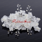 Elegant Imitation Pearls Lace Hair Ornament for Wedding ACCHP021FOR