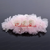 Elegant Imitation Pearls Pink Hair Ornament for Wedding ACCHP024FOR