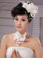 Elegant Tulle Silk Ribbon Feather Flower Hairpin Special Occasion and Wedding XTH013FOR