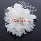 Elegant White Taffeta Tulle Wedding Fascinators Hair Flower ACCHP003FOR